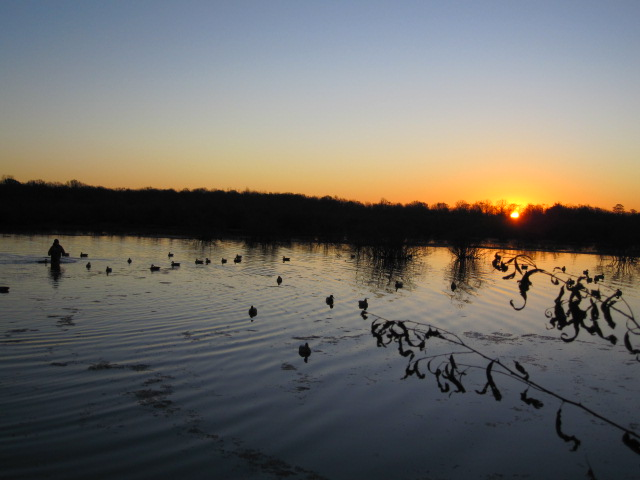 Sunrise on an arkansas duck hunt